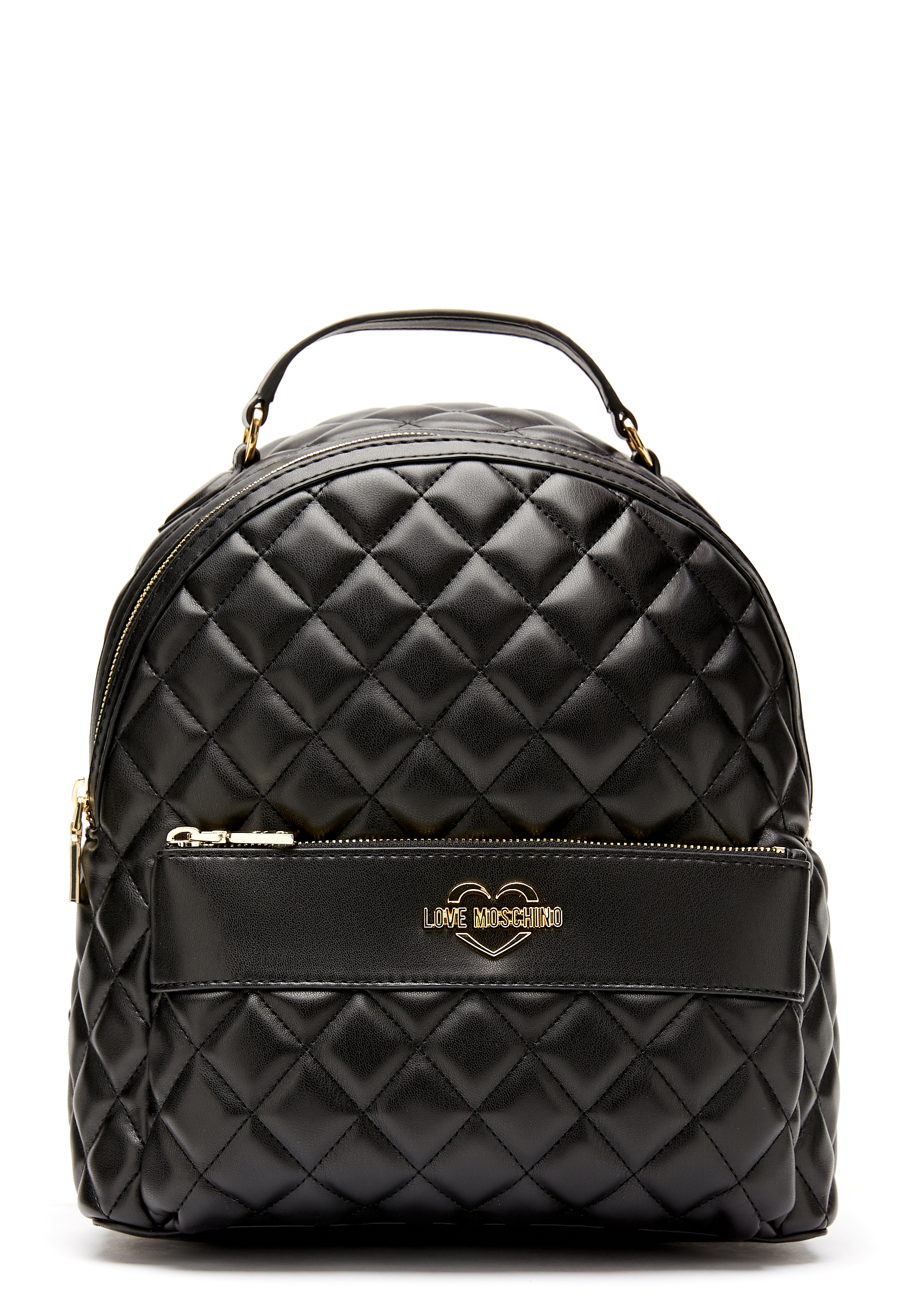 Love Moschino Quilted Backpack Black Gold - Bubbleroom cb32766d21