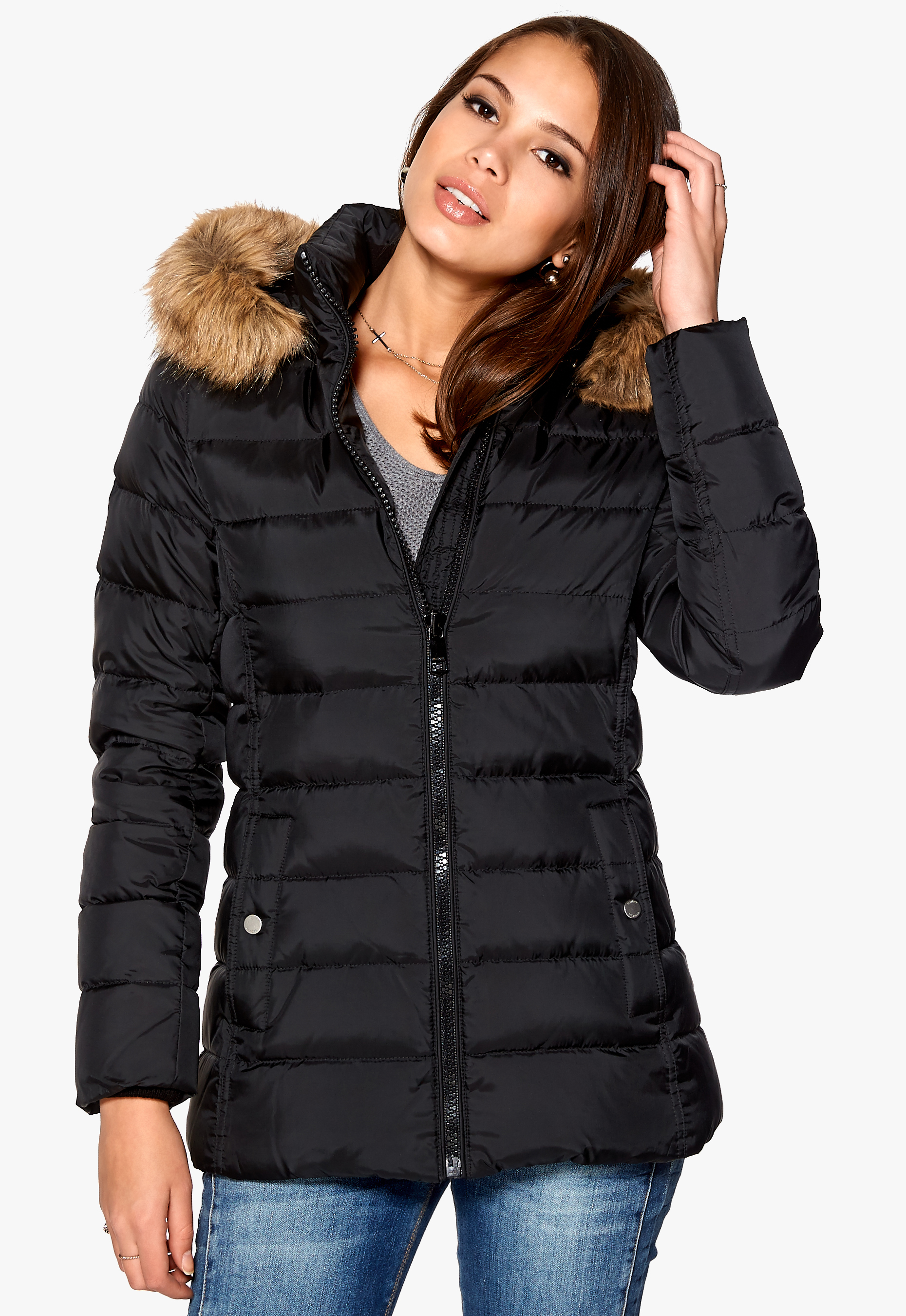 TOMMY HILFIGER Tyra Down Jacket Masters Black - Bubbleroom c1a3212614