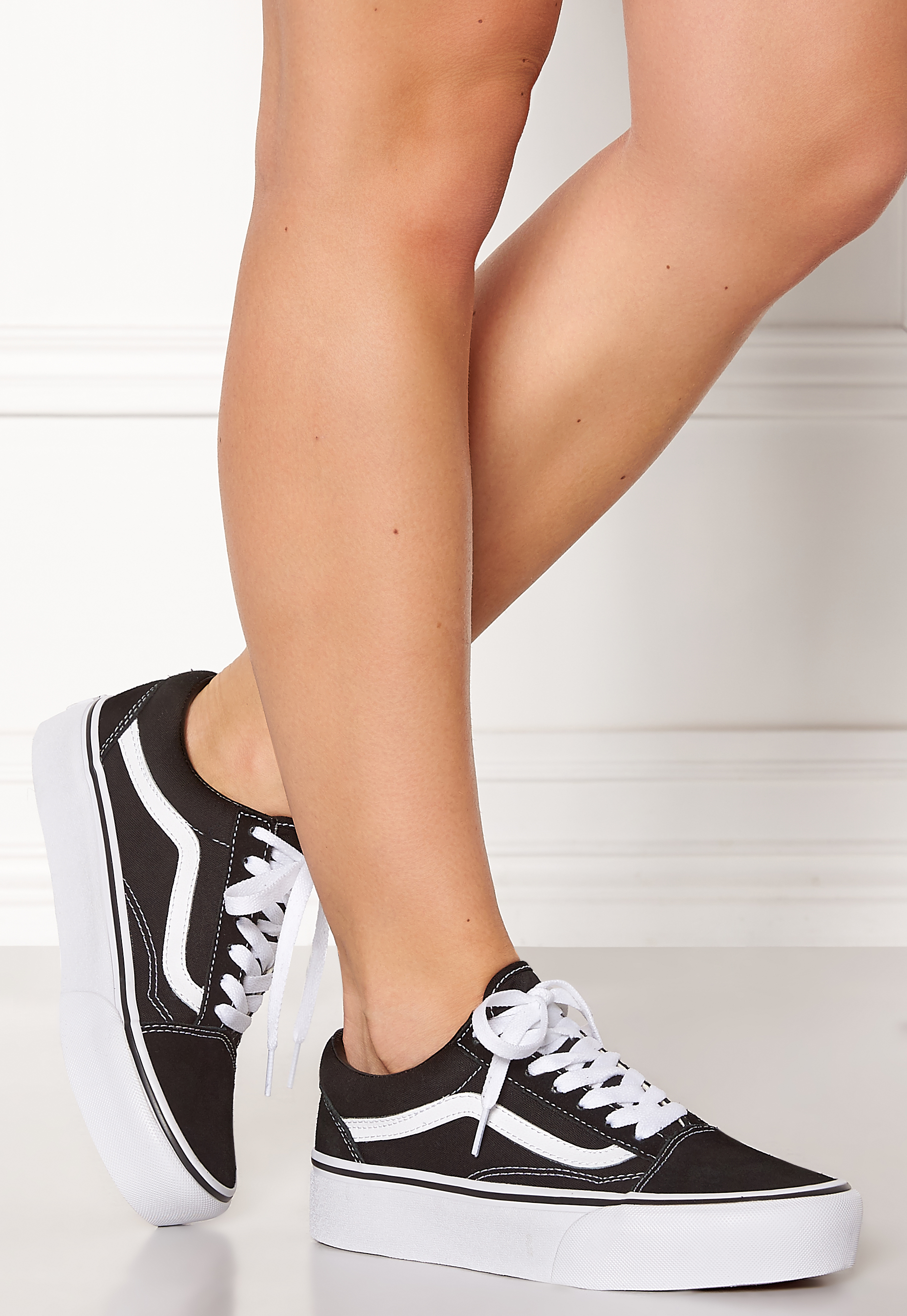 Vans Old Skool Platform Black White - Bubbleroom 18264d6d17