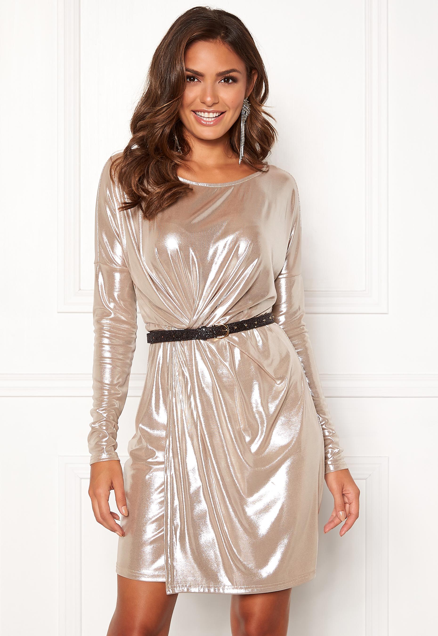 Bubbleroom Sl Dress Disco Vila Morganite FcTKlJ31