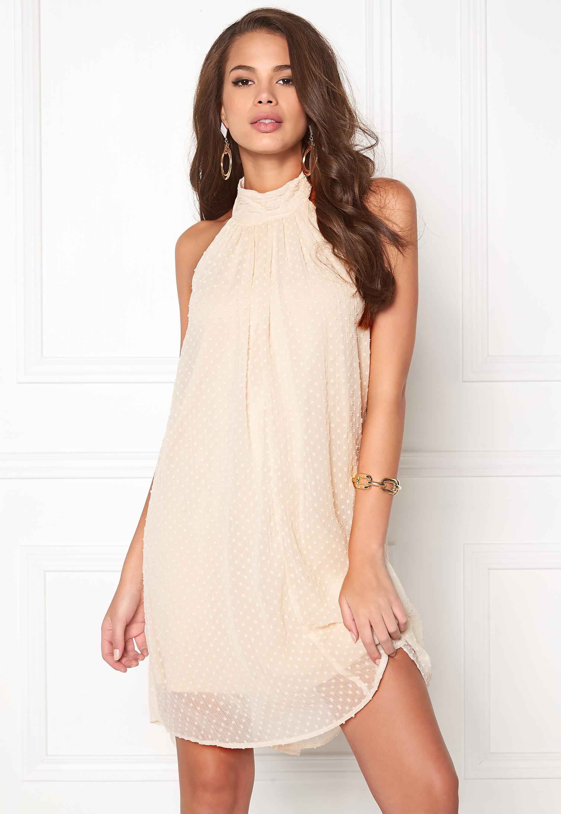 Halterneck Sand Dress Vishe Vila Shifting Bubbleroom eEI2YDW9H